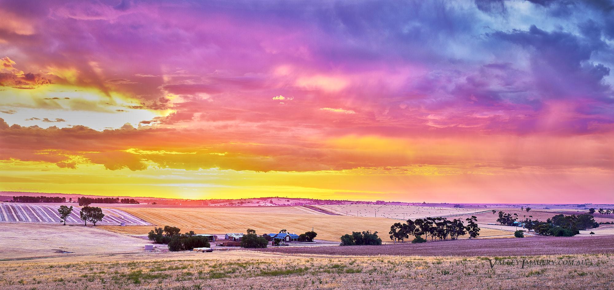 Sunset Farmland in the Barossa Valley