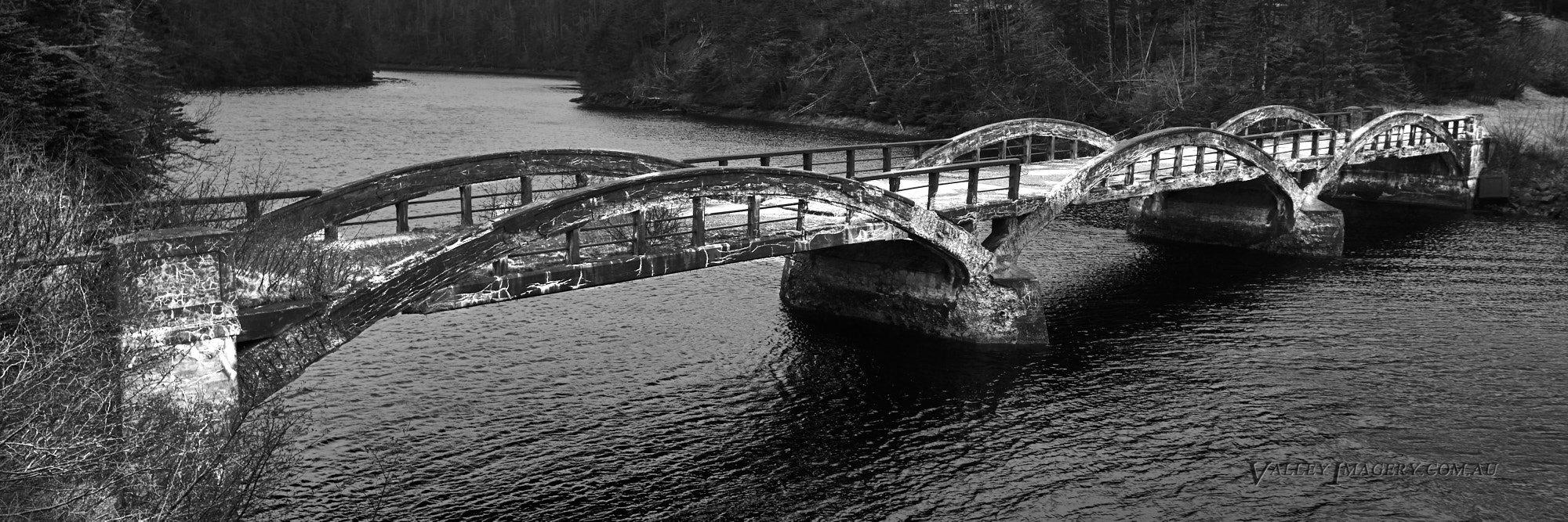 Derelict bridge, Newfoundland, Canada