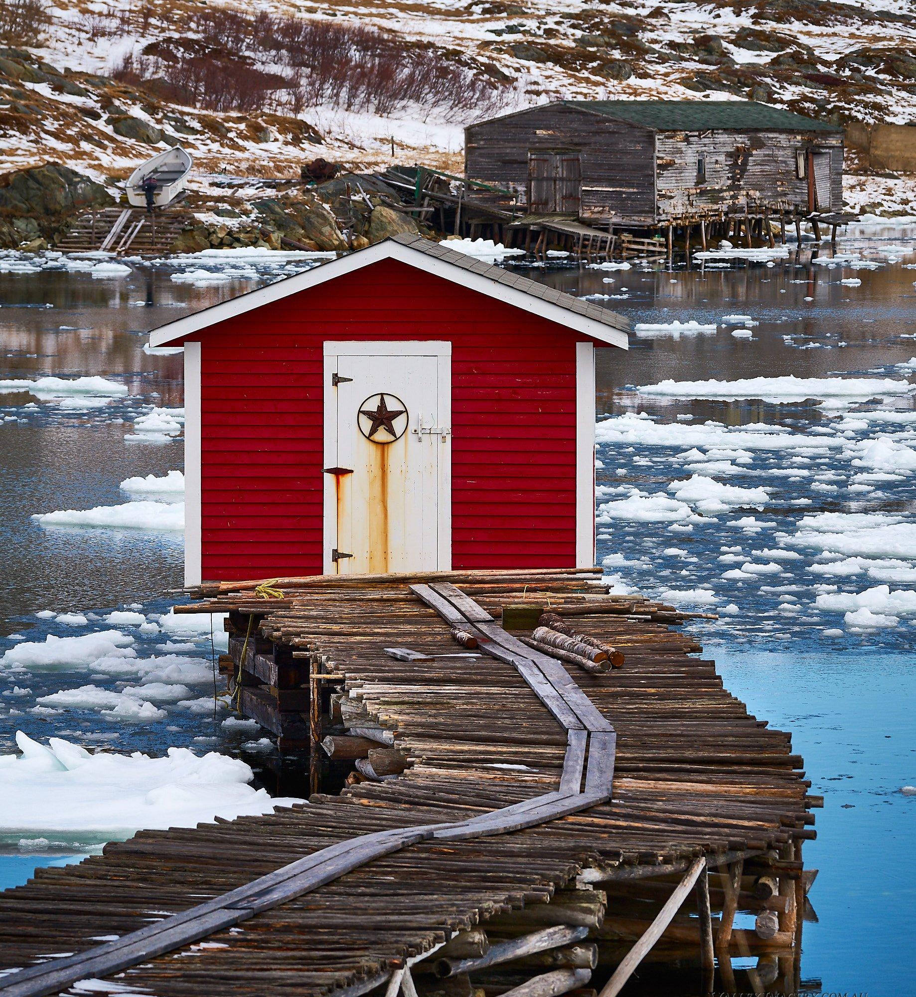 Newfoundland fishing hut