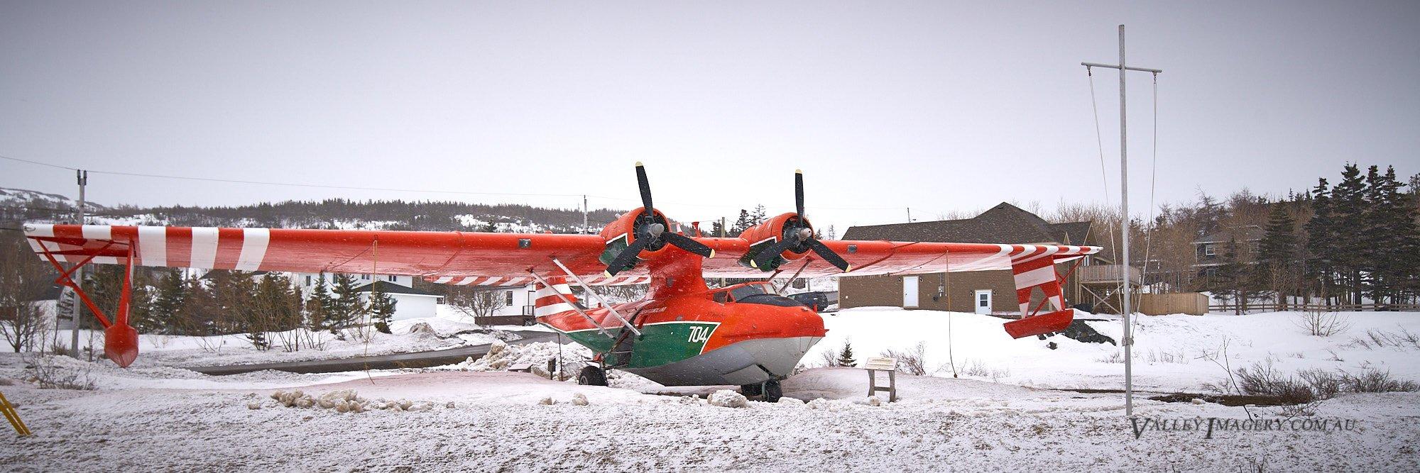 Catalina aircraft snow newfoundland